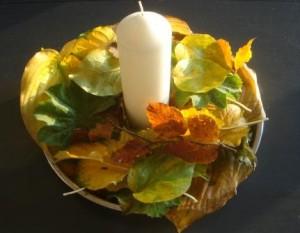 Dekoration med blade